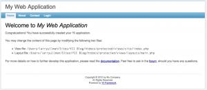 The Basic Yii Application