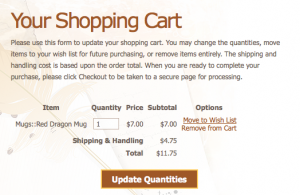 The Shopping Cart Form